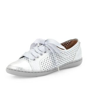 Donald J Pliner Maxi Silver Lace Up Sneaker 7.5